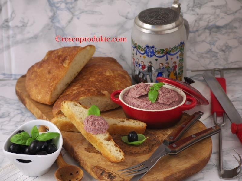 Rosen-Senf-Butter mit Chiabatta