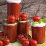 Selbstgemachte Tomatensosse
