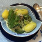 Schmorgurken & Seehecht mit Rosen-Balsam