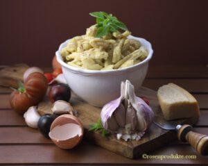 Käse – Nudeln al´a Carbonara: großartig, schnell und einfach.