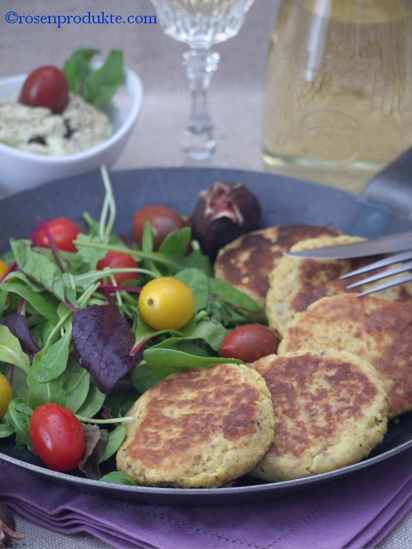 Salat mit Maronen-Rösti