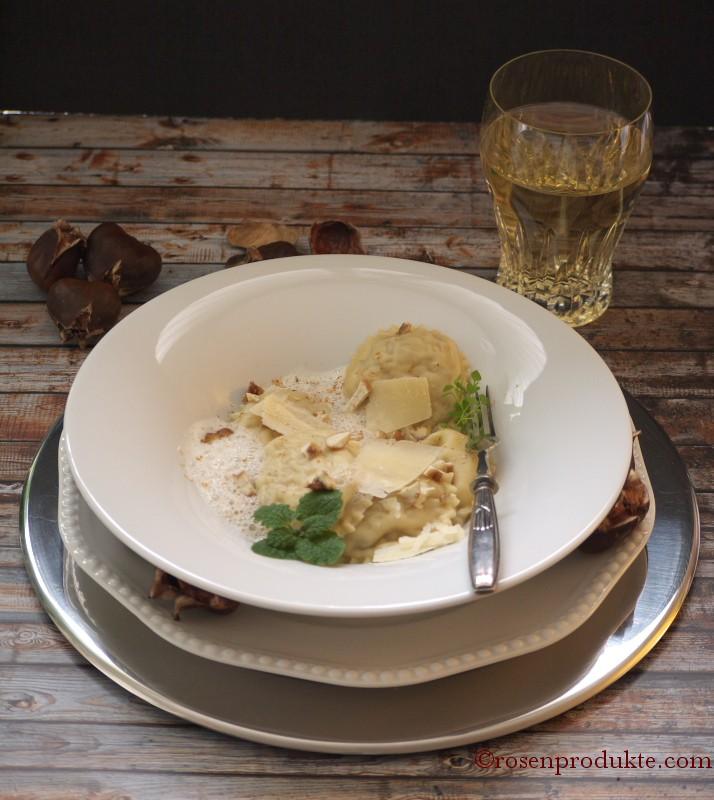 Unvergleichbare selbstgemachte Ravioli, gefüllt mit Maronen!