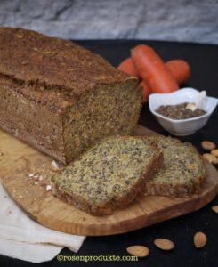 Eiweiss Brot mit Karotten