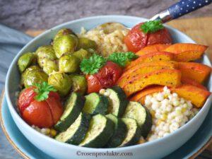 Gemüse Food Bowls mit Kürbis