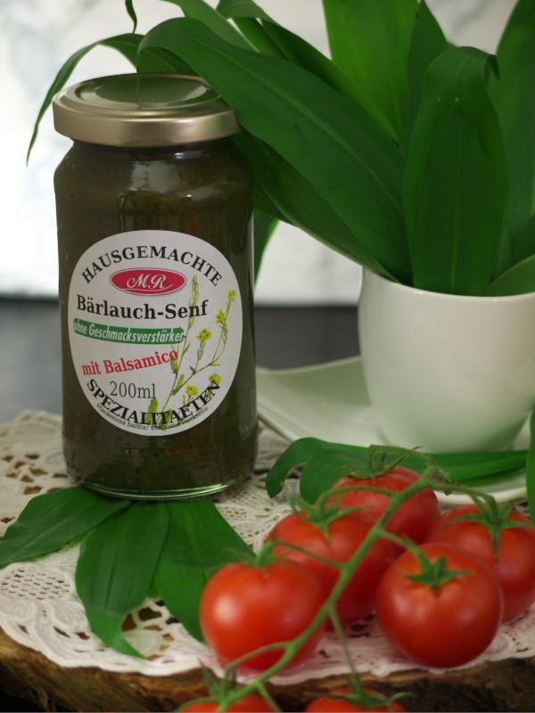 Bärlauch-Senf für Bärlauch-Nudeln