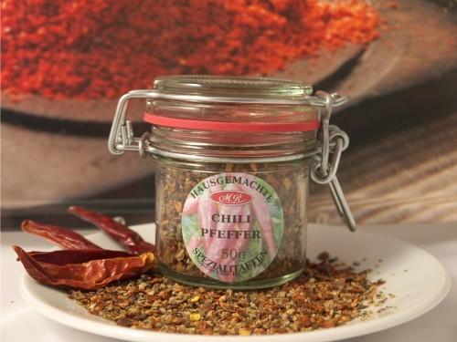 Chili-Pfeffer für Chili Senf Butter