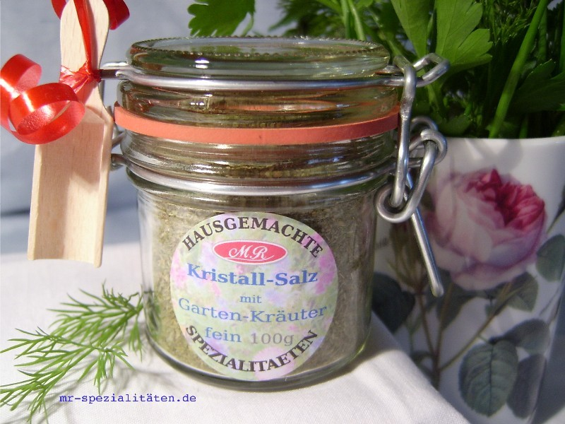 Garten-Kräuter-Salz für Bärlauch Senf Butter