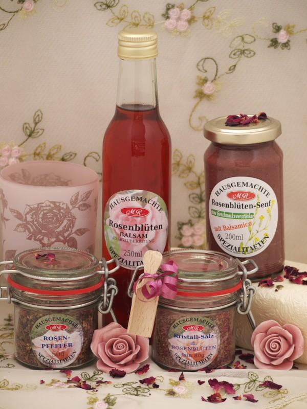 Rosen Set für Rosen-Senf-Butter