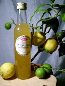 Zitronen-Balsam-Essig  für Brokkoli Creme Suppe