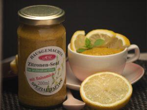 Zitronen Senf für Spargelrisotto