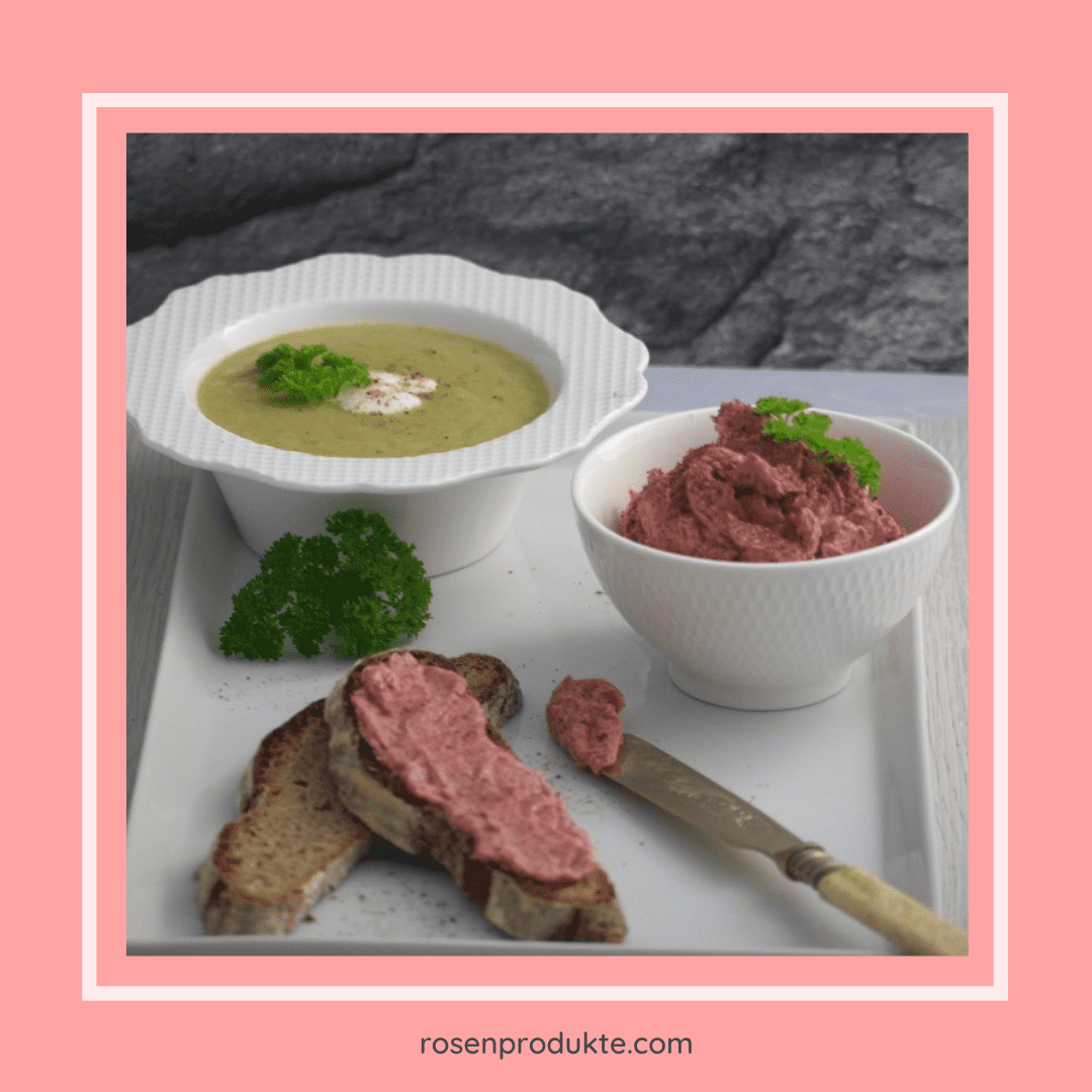 Read more about the article Lauch Creme Suppe und Rosen-Senf-Butter